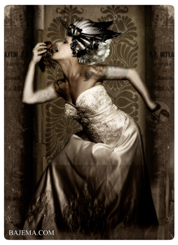 Bajema.com The Black Cat and Poisoned Tea Society Collection - The Snow White Bride