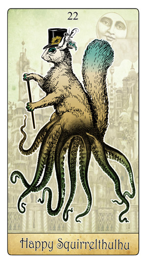 The Isidore Tarot Happy Squirrel