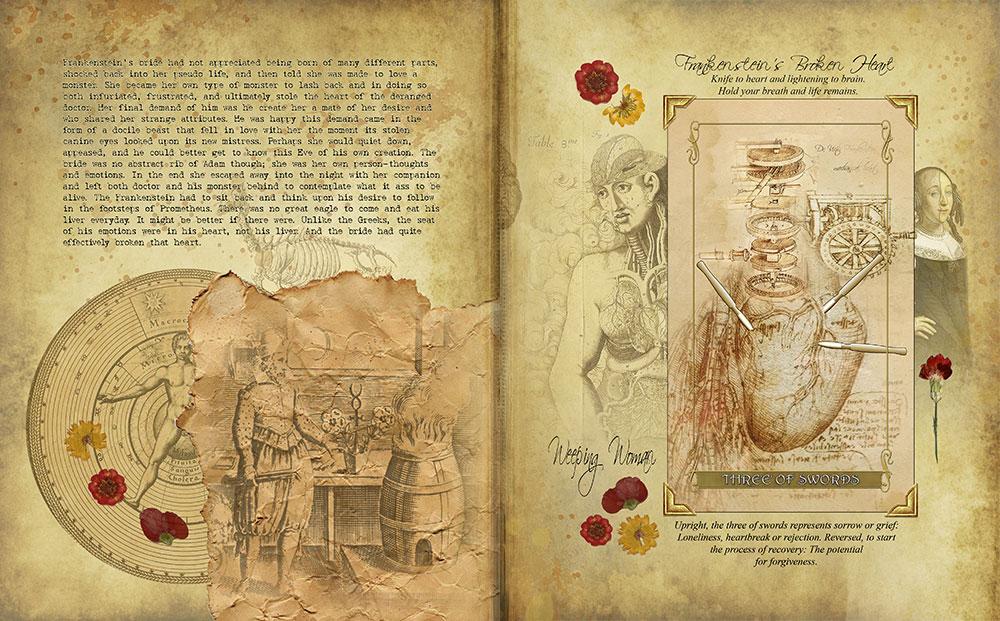 Madam Lydia Wilhelmina's Tarot of Monsters, the Macabre and Autumn Scenes